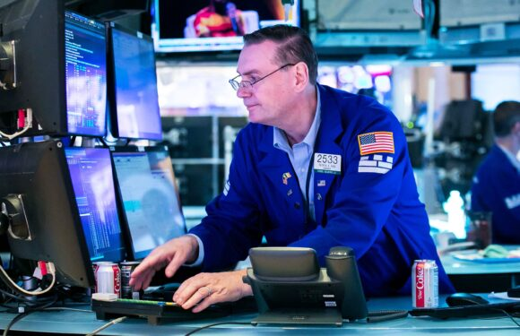 Dow futures  jump more than 100 points secondary selling closes wild week in the green
